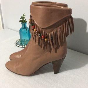 Casadei Leather Ankle High Boots